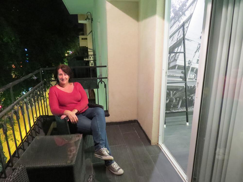 Balcony at the Dizengoff Avenue Boutique Hotel